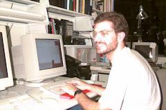 Ben Denckla, coding away.