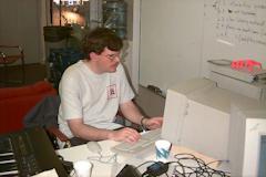 Patrick at work.