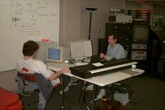 Patrick and John at work.