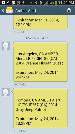 Los Angeles, CA AMBER Alert: LIC/7CIN189 (CA) 2004 Orange Nissan Quest