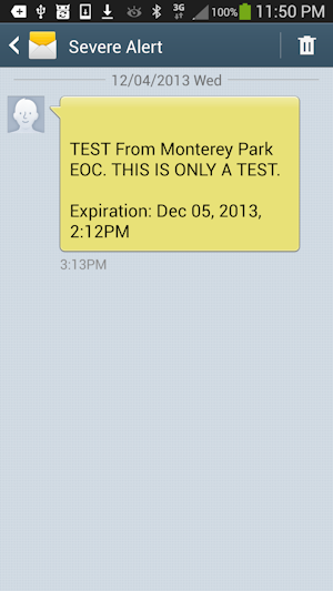 TEST From Monterey Park EOC.  THIS IS ONLY A TEST.