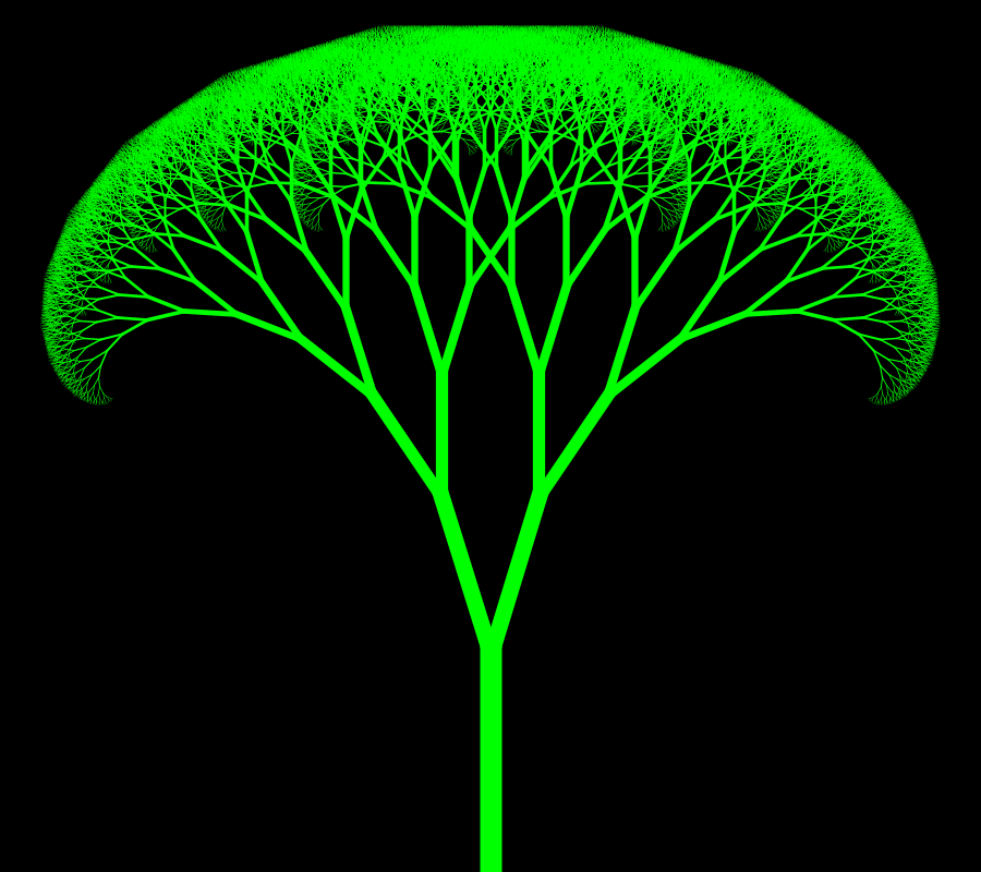 Xiaolin Wu Line Drawing Algorithm : Fractal tree rosetta code