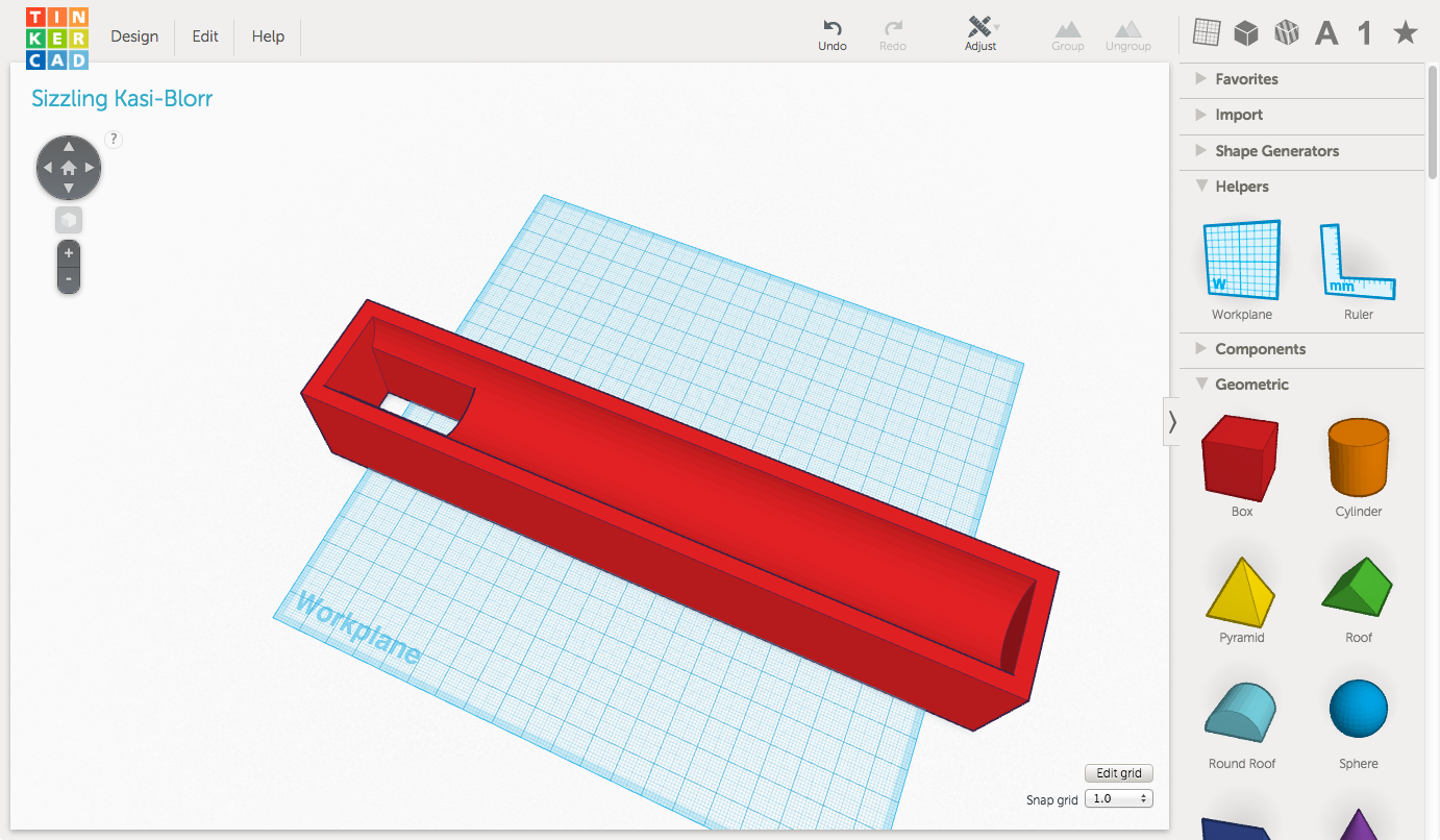 My toothbrush holder in TinkerCAD